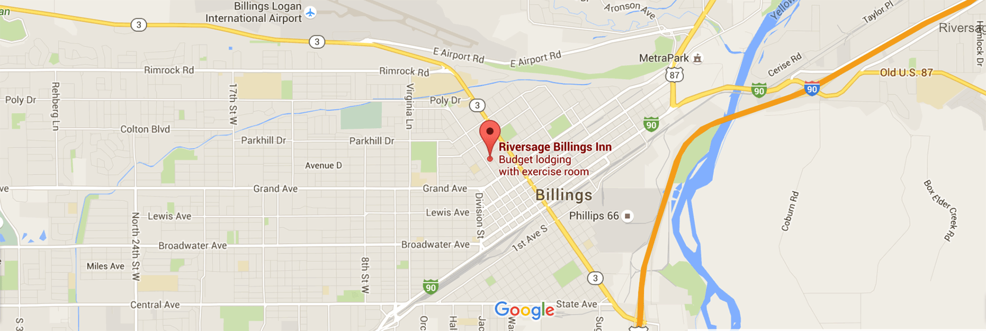 Contact Information and Location Directions for Riversage Billings