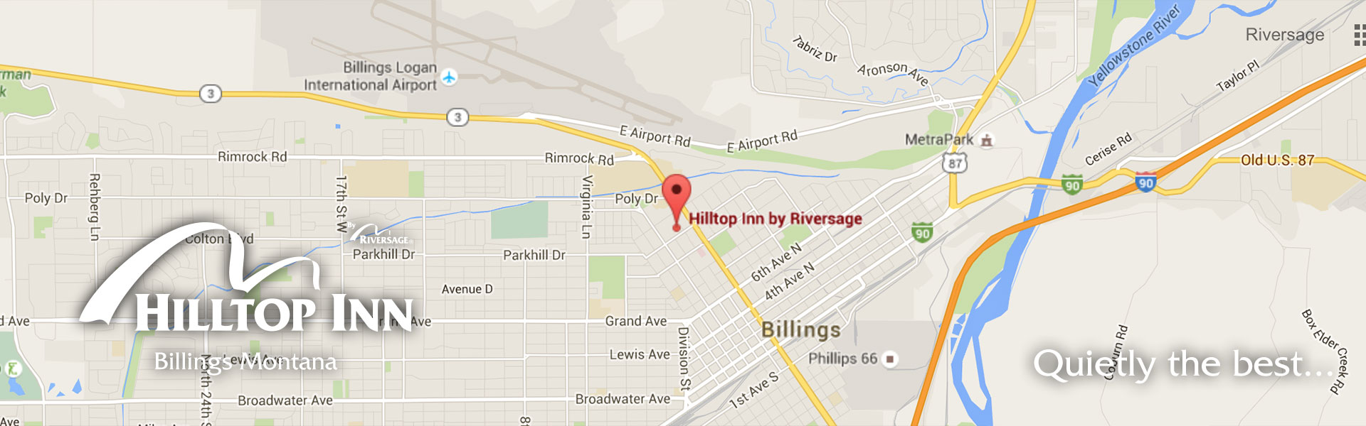 Contact Information and Location Directions for Hilltop Inn by ...